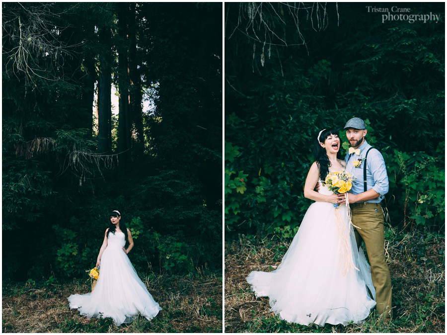 Mendocino Coast Wedding, Bride and Groom Portraits