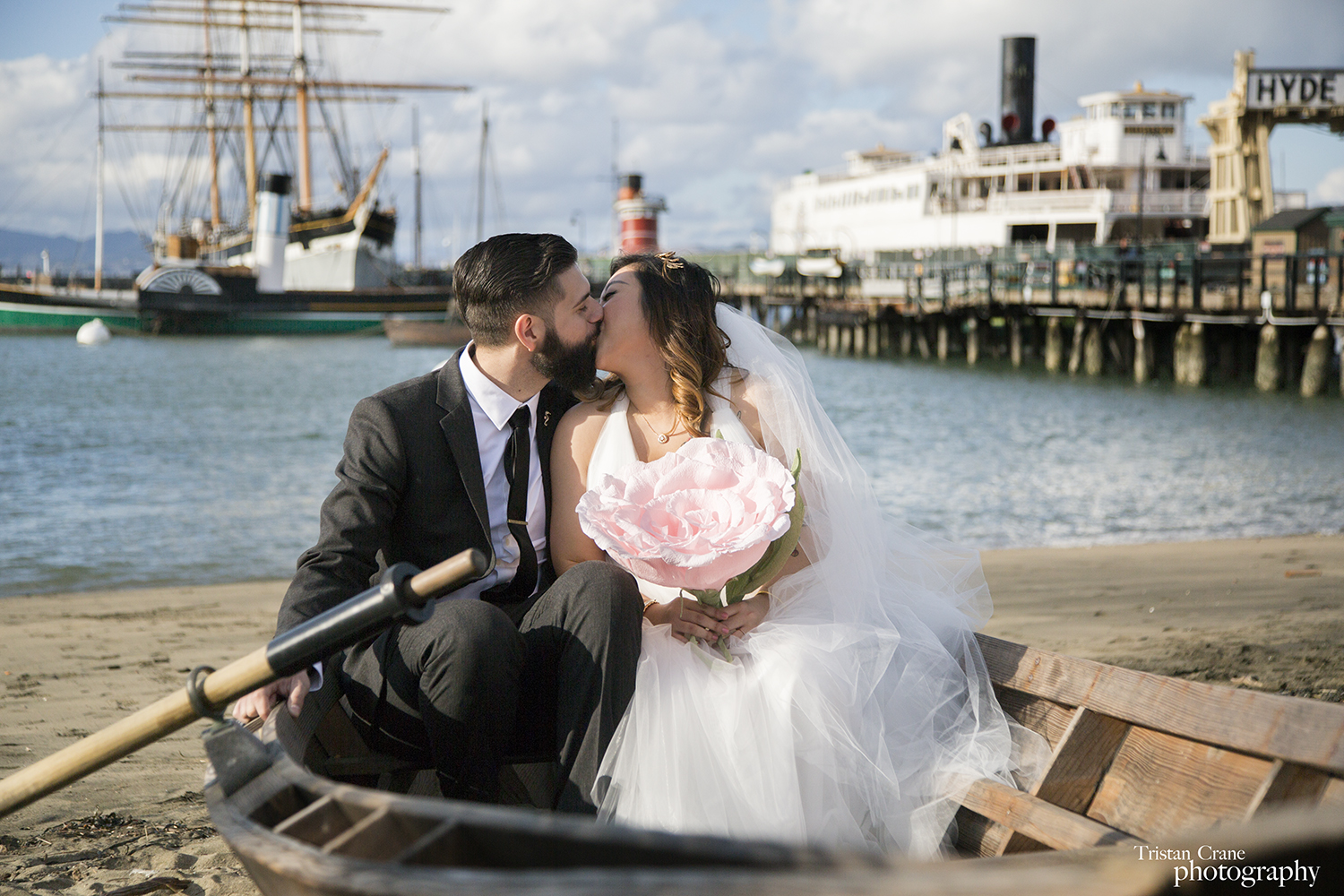 San Francisco Wedding, Hyde Street Pier Portraits